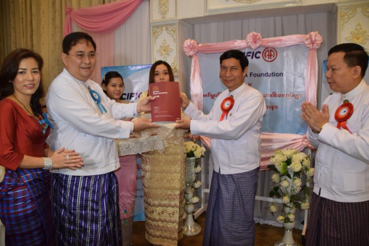 Pacific-AA Foundation Donation to Myanmar's Pharmaceutical Industry