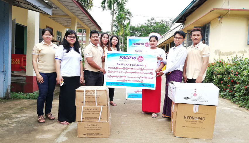 Donation of medicine and medical equipment for healthcare services of flooding areas in Mon State, Kayin State and Tanintharyi Region