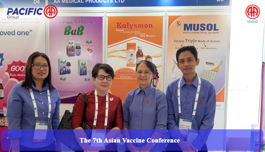 AA Medical Products Ltd and Pacific-AA Group participated as an exhibitor in the 7th Asian Vaccine Conference